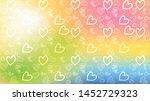 love card vector. illustration... | Shutterstock .eps vector #1452729323