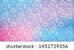 love card vector. illustration... | Shutterstock .eps vector #1452729356
