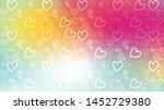 love card vector. illustration... | Shutterstock .eps vector #1452729380