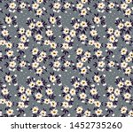 vintage floral background.... | Shutterstock .eps vector #1452735260