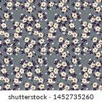 vintage floral background.... | Shutterstock .eps vector #1452735260