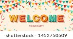 welcome card or banner with... | Shutterstock .eps vector #1452750509