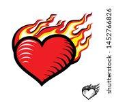 fire heart  burning heart  love ... | Shutterstock .eps vector #1452766826