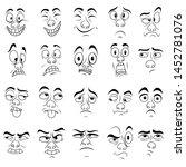set of twenty amusing male...   Shutterstock .eps vector #1452781076