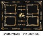 art deco elements. gold wedding ... | Shutterstock .eps vector #1452804233