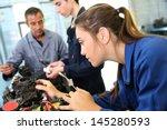mechanics training class with...   Shutterstock . vector #145280593