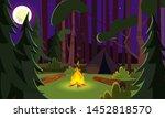 empty night campsite flat... | Shutterstock .eps vector #1452818570