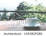 Single White Ceramic Cup Of Tea ...