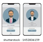 screen design on a smartphone...