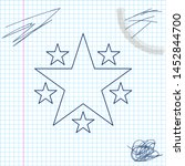 star line sketch icon isolated...