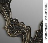 map line of topography. vector... | Shutterstock .eps vector #1452846203