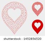 mesh heart casino marker model... | Shutterstock .eps vector #1452856520