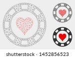 mesh heart casino chip model... | Shutterstock .eps vector #1452856523