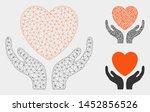 mesh heart care model with... | Shutterstock .eps vector #1452856526