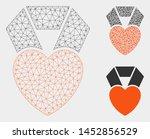 mesh heart award model with... | Shutterstock .eps vector #1452856529