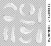 white cream elements. realistic ... | Shutterstock .eps vector #1452858656