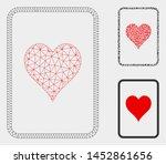 mesh hearts gambling card model ... | Shutterstock .eps vector #1452861656