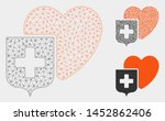 mesh heart shield model with... | Shutterstock .eps vector #1452862406
