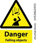 danger falling objects warning... | Shutterstock .eps vector #1452863453