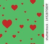 heart love symbol texture... | Shutterstock .eps vector #1452870809