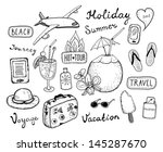 hand drawn vector illustration... | Shutterstock .eps vector #145287670