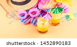 vacation on the beach concept... | Shutterstock . vector #1452890183