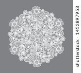 lace circle flowers decoration...   Shutterstock .eps vector #1452897953