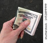 Macro Photo Of Us Dollars In...