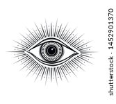 all seeing eye symbol. vision... | Shutterstock .eps vector #1452901370