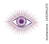 all seeing eye symbol. vision... | Shutterstock .eps vector #1452901373