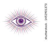 all seeing eye symbol. vision... | Shutterstock .eps vector #1452901373