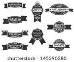 set of 9 retro premium quality... | Shutterstock .eps vector #145290280