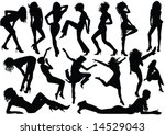 vector woman silhouettes | Shutterstock .eps vector #14529043