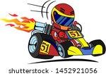 go kart racer vector cartoon... | Shutterstock .eps vector #1452921056