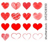 hearts icon collection. live... | Shutterstock .eps vector #1452928550