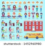 stickers of pupils  portrait... | Shutterstock .eps vector #1452960980