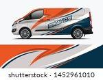 van wrap design. wrap  sticker... | Shutterstock .eps vector #1452961010