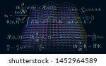 quantum mechanics formulas  ... | Shutterstock .eps vector #1452964589