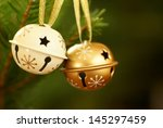 jingle bells on christmas tree... | Shutterstock . vector #145297459