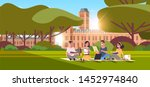 young teenage students group...   Shutterstock .eps vector #1452974840