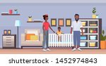 father mother and newborn baby... | Shutterstock .eps vector #1452974843
