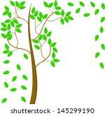 summer tree   Shutterstock .eps vector #145299190
