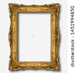Golden wooden frame isolated on ...