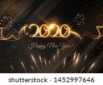 2020 new year shiny vector...   Shutterstock .eps vector #1452997646