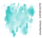 turquoise color brush strokes. eps 8