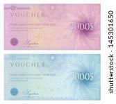 gift certificate  voucher ... | Shutterstock .eps vector #145301650