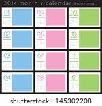 2014 monthly calendar   Shutterstock .eps vector #145302208