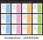 2014 Calendar Vertical