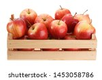 Crop Of Ripe Red Apples In A...