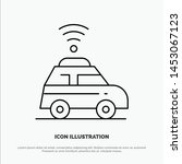 car  location  map line icon... | Shutterstock .eps vector #1453067123